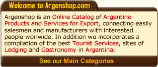 Main categories of Argenshop.com